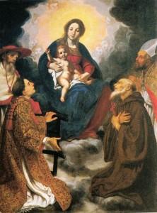Jacopo Vignali, Madonna e santi