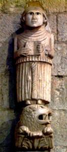 Telamone dell'antico pulpito del sec. XII - Copia