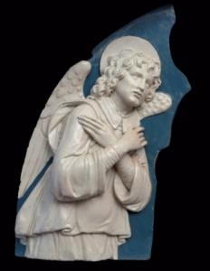 Andrea della Robbia, Angelo nunziante. Raccolta Arte Sacra Sant'Agata