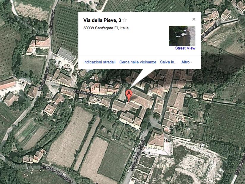 Mappa musei Sant'Agata Mugello